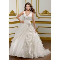 bílé svatební šaty na ramínka Viola XS