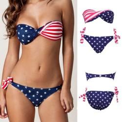 dámské barevné dvoudílné plavky USA