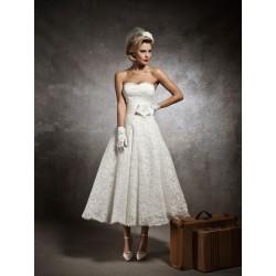 retro krátké svatební šaty krajkové krémové vintage XS-S