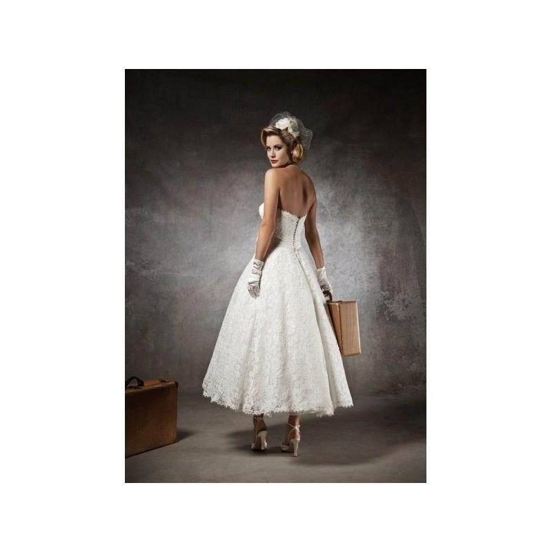 Krátké retro vintage svatební šaty krajkové - svatba 50 s styl a375390d7bd