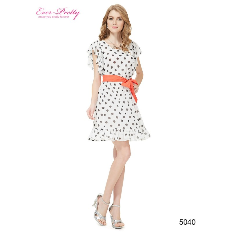 d535891b505 ... retro 50 s puntíkaté krátké společenské šaty černo-bílé Sandra ...