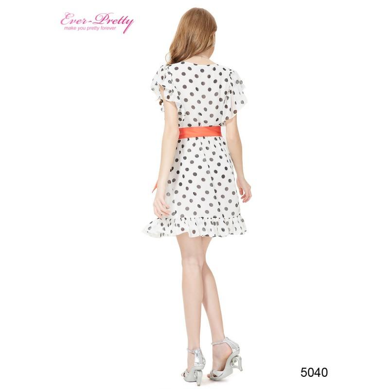 356d69de3d7 retro 50 s puntíkaté krátké společenské šaty černo-bílé Sandra S ...
