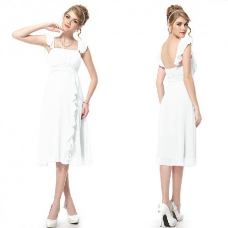 krátké bílé svatební a nebo společenské šaty Fabiana L, XL
