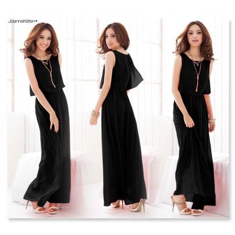 e9f119a0cf41 černé dlouhé jednoduché společenské šaty XL - Hollywood Style E-Shop ...