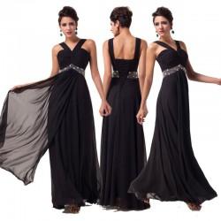 černé plesové společenské šaty na ples Derien XXL-3XL