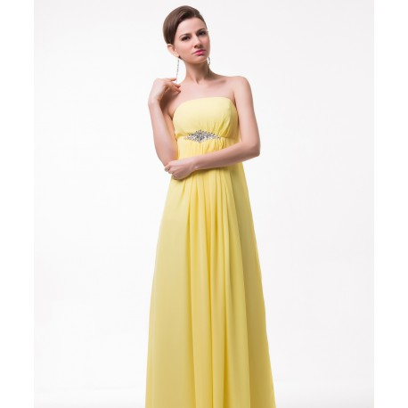 zářivé žluté společenské plesové šaty Suzan S-M