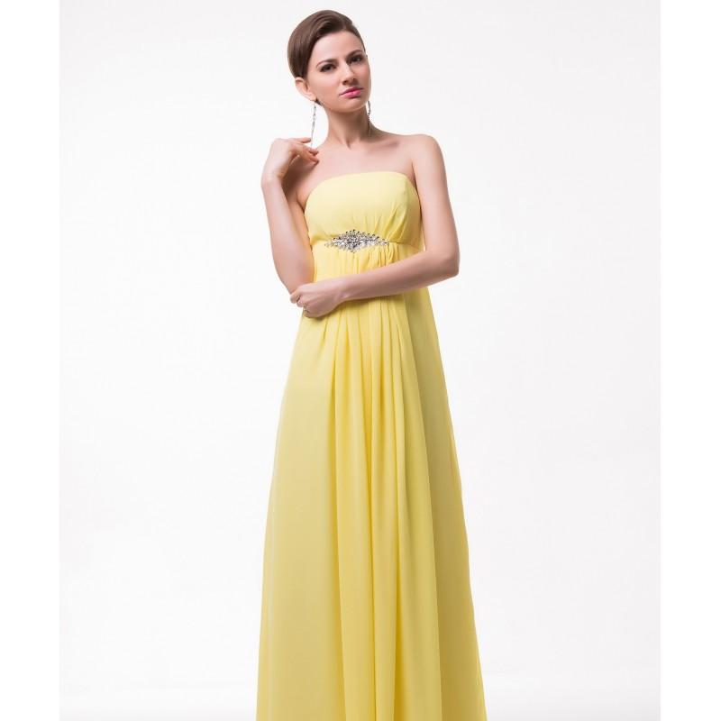 ede272f8dfc0 zářivé žluté společenské plesové šaty Suzan S-M - Hollywood Style E ...