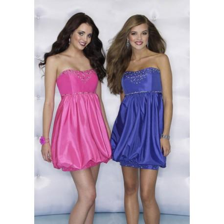krátké růžové společenské šaty Paola XS-M