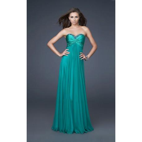 společenské plesové zelené šaty Seren L-XL
