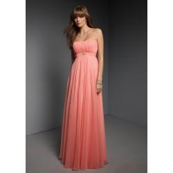 jednoduché plesové šaty antické meruňkové Viola XS-S,  XL-XXL