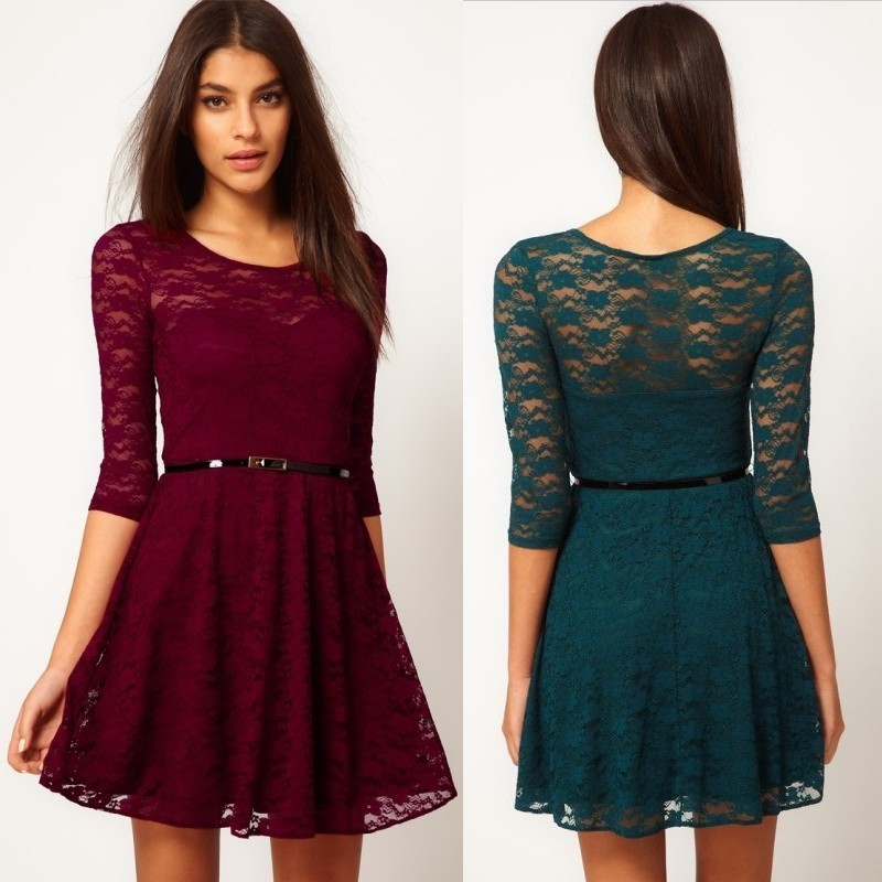 aa8ca1a0bff2 krátké společenské šaty krajkované Elite - výběr barev - Hollywood ...