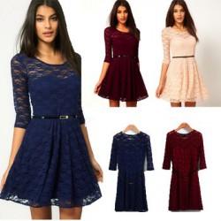 krátké společenské šaty krajkované Elite - výběr barev