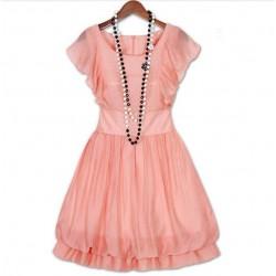 krátké lososové růžové společenské šaty Minnie S-M