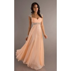 plesové šaty meruňkové Eleanor XXL-3XL