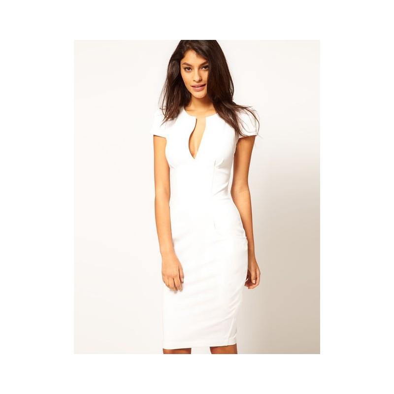 klasické krátké bílé společenské šaty Vilma M-L - Hollywood Style E ... b040cf155d