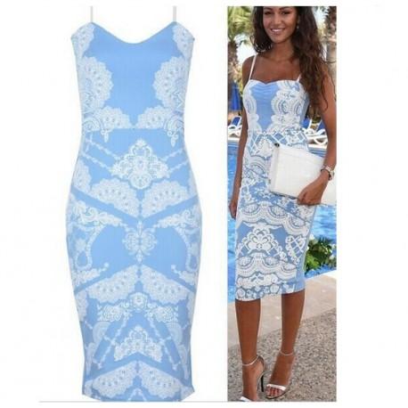 3f8ecd3e0 krátké světle modré společenské šaty L-XL - Hollywood Style E-Shop ...