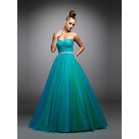 2d541dad0201 luxusní plesové šaty tyrkysové na maturitní ples Teal S-M ...