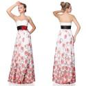 luxusní společenské malované šaty Carlita XS