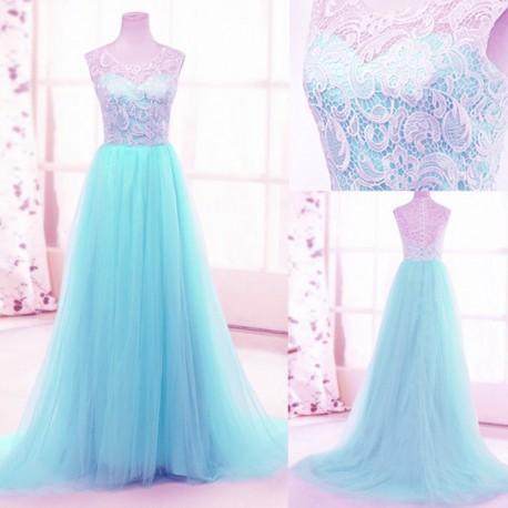 22d5246fb88 luxusní světle modré plesové šaty tylové Penelopé XS-S - Hollywood ...
