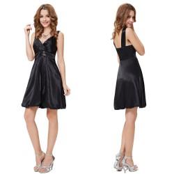 jednoduché černé krátké společenské šaty Viola XL