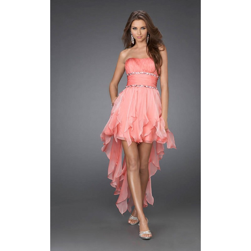eb03e52e2876 polodlouhé lososové společenské plesové šaty Helen S-M - Hollywood ...