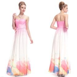 dlouhé barevné společenské šaty Astra M ombré