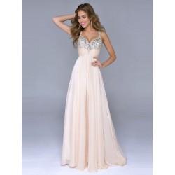 luxusní svatební nebo plesové champagne antické šaty Dorothy XS-M