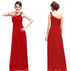 luxusní dlouhé společenské červené šaty Luna L, XL a XXXL