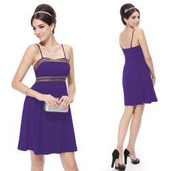 krátké fialové společenské šaty Heather XL