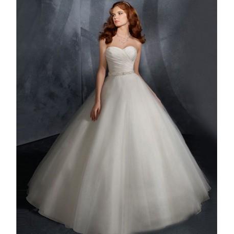 luxusní tylové svatební šaty Elza princeznovské XS-S