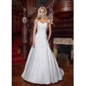 bílé svatební šaty pro baculky Eugenie 3XL-4XL