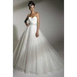 princeznovské svatební šaty krémové Olga M-L