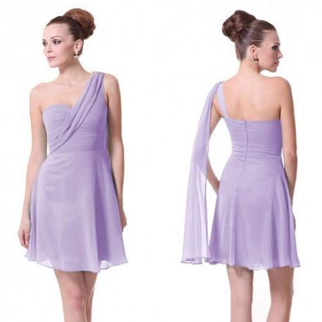 178f1ddf6926 krátké fialové společenské šaty na jedno rameno Scoty XS - Hollywood ...