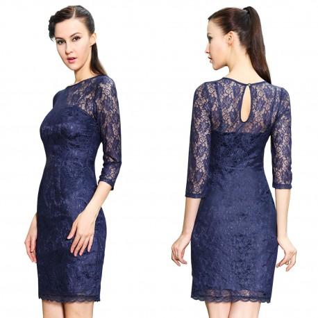 32bea338aa25 tmavě modré krátké společenské šaty koktejlky S - Hollywood Style E ...