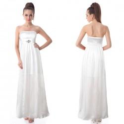 jednoduché dlouhé svatební a nebo společenské šaty Dora XXL-3XL a 3XL-4XL