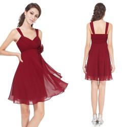 vínové červené krátké společenské šaty Dorothy XL
