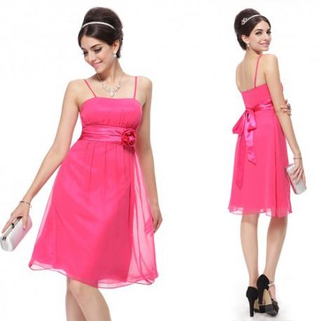 krátké růžové společenské šaty Vera M a L
