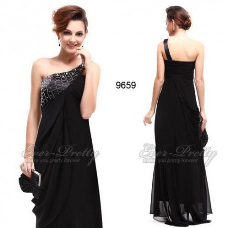 elegantní dlouhé černé společenské šaty Morena M