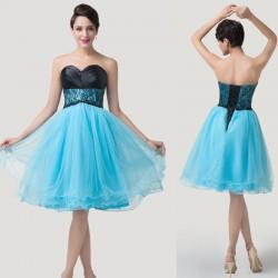 krátké společenské šaty modro-černé Dita S-M 29386f1eb1