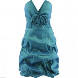 krátké zelené společenské šaty S