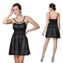 krátké černé společenské šaty Fiona L