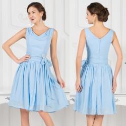 světle modré krátké společenské retro šaty Týlie L
