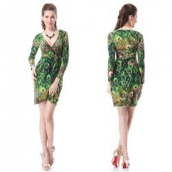 krátké letní paví společenské šaty Jovi M