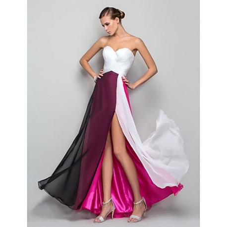 luxusní červeno-bílé svatební nebo společenské šaty Fatima XS