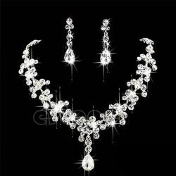 luxusní štrasová sada pro nevěstu Vilma - náhrdelník, náušnice