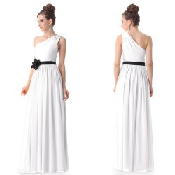 luxusní bílé společenské nebo svatební šaty Flower M, L