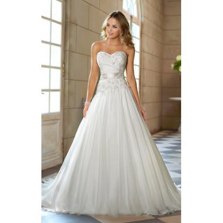 luxusní bílé svatební šaty Isabella XL-XXL