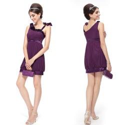 ff9f2143104 tmavě fialové krátké společenské šaty Sindy S