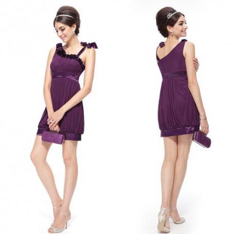 bf3759891761 tmavě fialové krátké společenské šaty Sindy S - Hollywood Style E ...