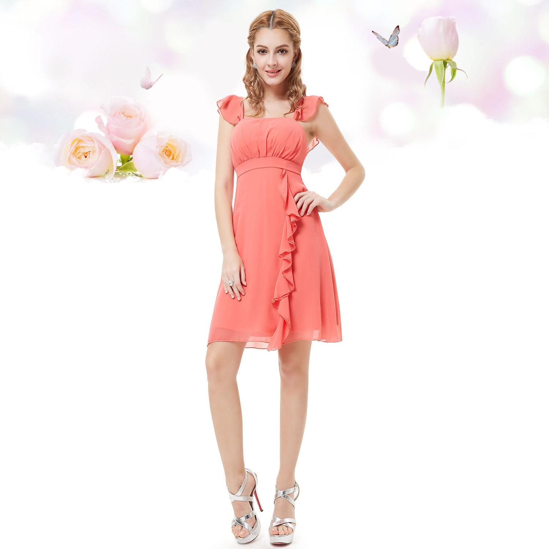 krátké společenské šaty lososové Jolanda L 473a1b7d16